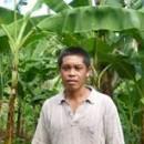 アディさんは、バナナの収量が回復したことで、また豚の餌を買えるようになり、貯金もできるようになりました。