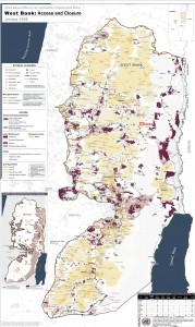 パレスチナ地図、アクラバ村位置
