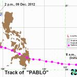 台風PABLOの進路(フィリピン政府)