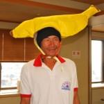バナナ生産者交流会 バナナハットをちょっと拝借!