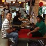 バナナ生産者交流会 京都清水寺の茶屋で一休み。