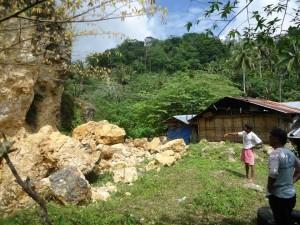 マヤナ地域の土砂崩れ