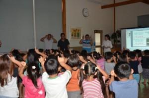 パルシステム山梨がバランゴンバナナを供給している保育園で子供たちと交流会