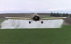 遺伝子組み換え大豆への農薬空中散布(アルゼンチン)