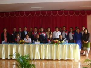 ラオスコーヒー協会の会議へのJCFCの出席