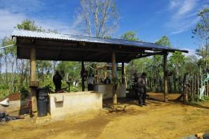 水洗式加工設備@カプー村
