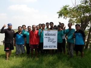 グレシックでの植樹プロジェクトへの参加者