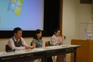 会場との質疑応答(右から関根さん、石井さん、市橋さん)
