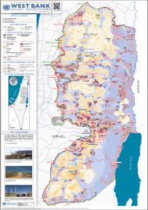 西岸地区全図(OCHA2012年版)
