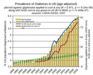 米国での糖尿病の増加と遺伝子組み換え