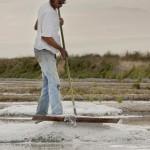 塩田で仕事をする塩職人グレゴリー・ピタール氏 ©Pascal FRANCOIS
