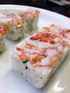 エコシュリンプの押し寿司