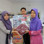 7. Receiving used clothes donation from staff